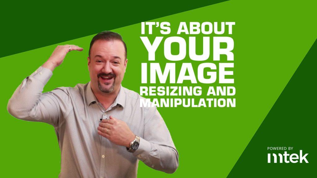 Image resize manipulation text tools